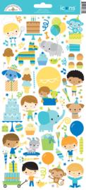 Doodlebug Design Party Time Icons Sticker
