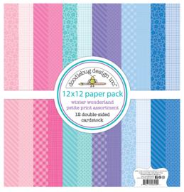 Doodlebug Design Winter Wonderland 12x12 Inch Petite Print Assortment Pack
