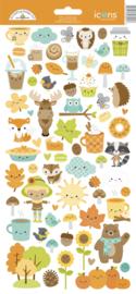 Doodlebug Design Pumpkin Spice Icons Stickers