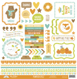 Doodlebug Design Pumpkin Spice This & That 12x12 Inch Stickers