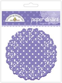 Doodlebug Design Lilac Polka Dot Doilies