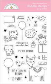 Doodlebug Design Party Animals - Girl Doodle Stamps