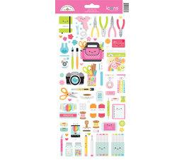 Doodlebug Design Cute & Crafty Icons Stickers