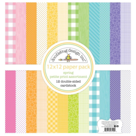 Spring 12x12 Inch Petite Print Paper Pack