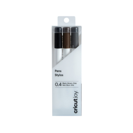 Pennen Joy fine point Zwart/Grijs/bruin 0,4mm