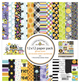 Doodlebug Design Ghost Town 12x12 Inch Paper Pack