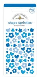 Doodlebug Design Blue Jean Confetti Shape Sprinkles
