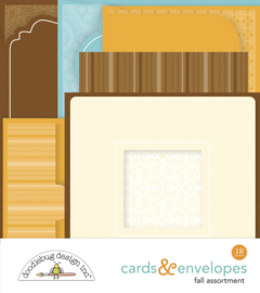 Doodlebug Design Fall Assortment Cards & Envelopes