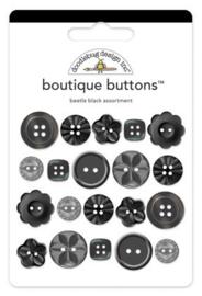 Doodlebug Design Beetle Black Boutique Buttons