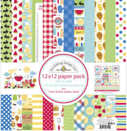 Doodlebug Design Bar-b-cute 12x12 Inch Paper Pack