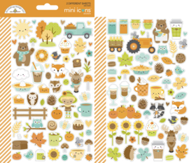 Doodlebug Design Pumpkin Spice Mini Icons Stickers