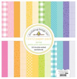 Spring 12x12 Inch Petite Print Paper Pack (7194)