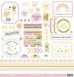 Doodlebug Design Bundle of Joy This & That Stickers