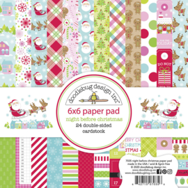 Doodlebug Design Night Before Christmas 6x6 Inch Paper Pad