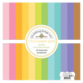 Spring 12x12 Inch Textured Cardstock Assortment Pack