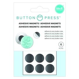 Button press zelfklevende magneten 6 stuks
