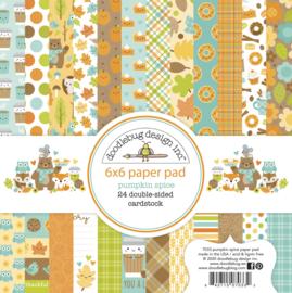 Doodlebug Design Pumpkin Spice 6x6 Inch Paper Pad