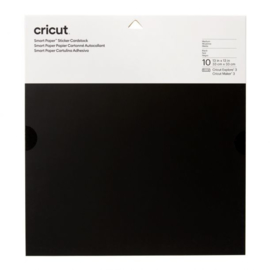 Cricut Smart Sticker Cardstock 33x33cm Black (10pcs)