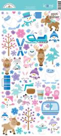 Doodlebug Design Winter Wonderland Icons Stickers