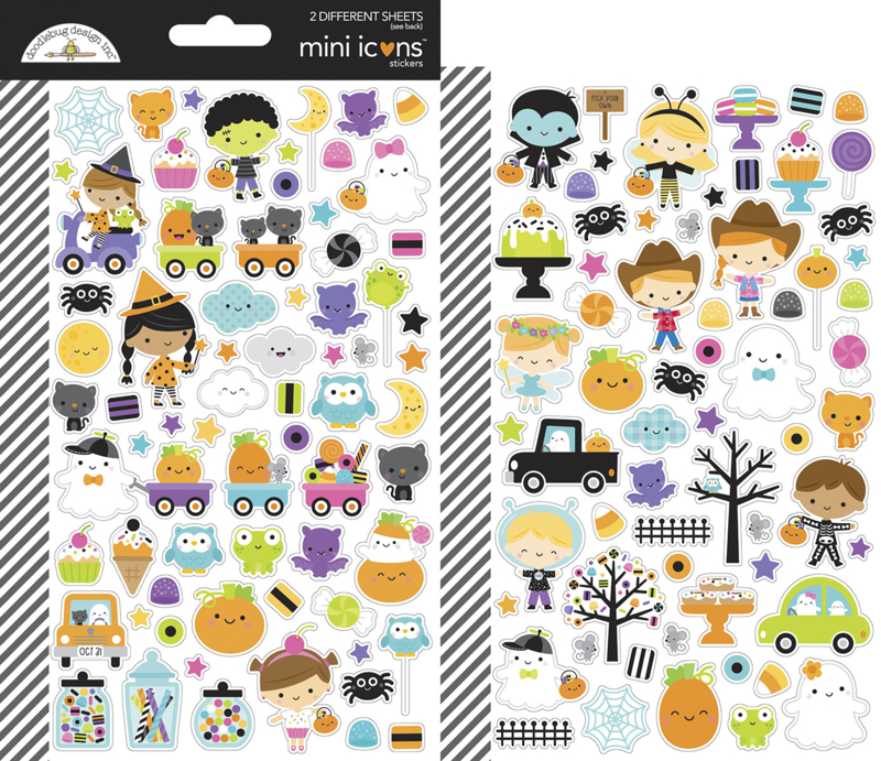 Doodlebug Design Ghost Town Mini Icons Stickers