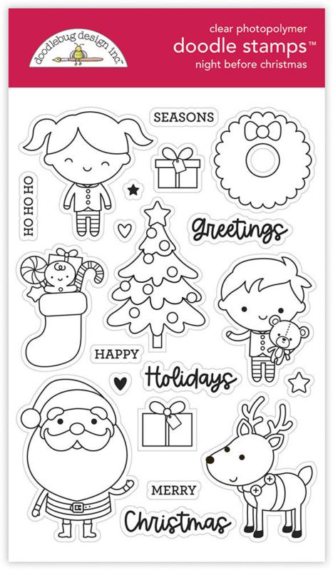 Doodlebug Design Night Before Christmas Doodle Stamps