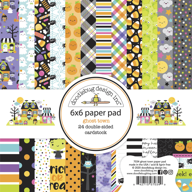 Doodlebug Design Ghost Town 6x6 Inch Paper Pad