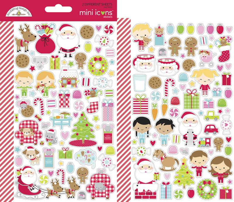 Doodlebug Design Night Before Christmas Mini Icons Sticker