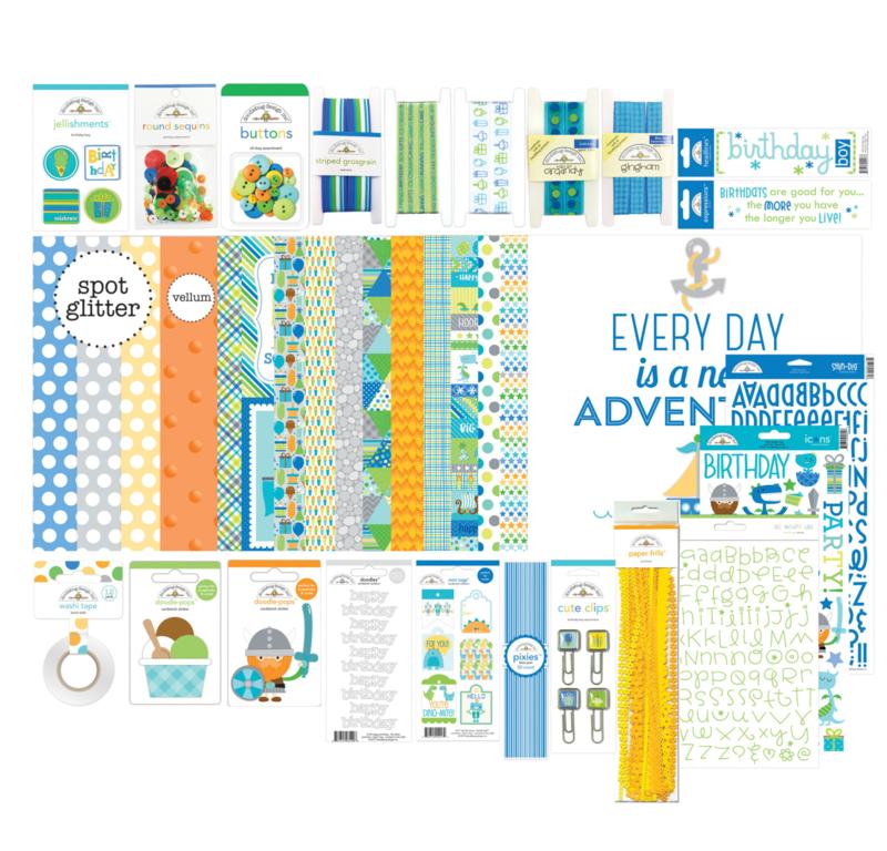 Doodlebug Design Party Time Birthday Boy Value Bundle