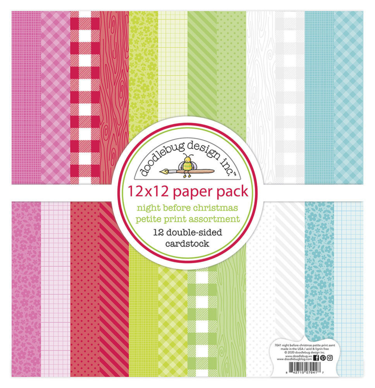 Doodlebug Design Night Before Christmas 12x12 Inch Petite Print Paper Pack
