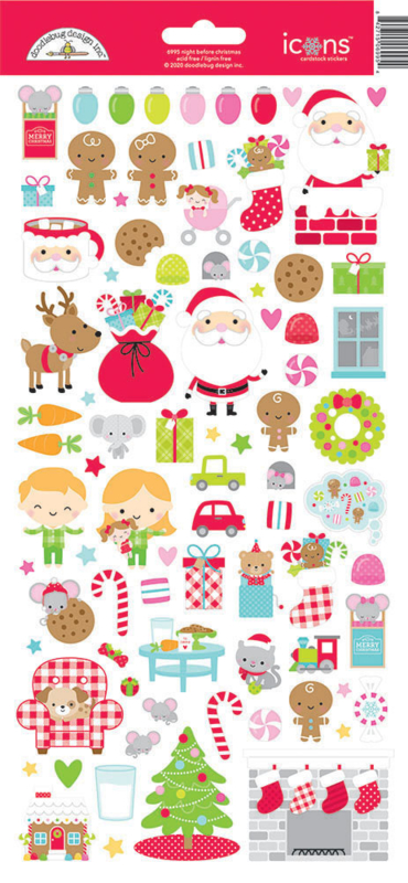 Doodlebug Design Night Before Christmas Icons Sticker