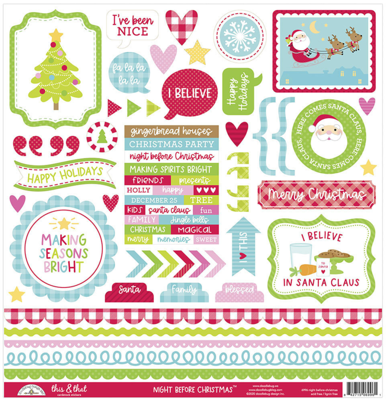 Doodlebug Design Night Before Christmas This & That Sticker