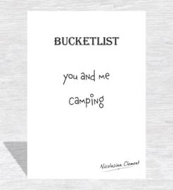 Bucketlist card - camping