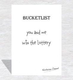 Bucketlist card - win the lottery