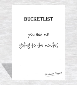 Bucketlist card - going to the movies