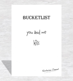 Bucketlist card - kiss