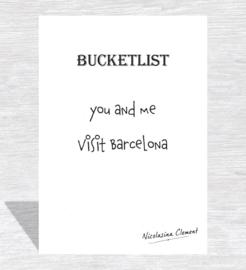 Bucketlist card - visit Barcelona