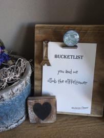 Mei actie 50% korting op alle bucketlist kaarten