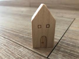Kaarthouder houten huisje