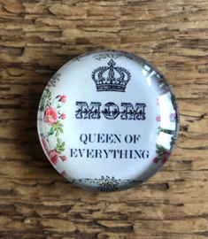 "Magneet ""Mom - Queen of everything"""