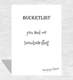 Bucketlist card - snowboarding