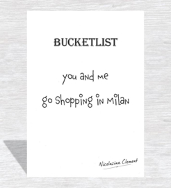 Bucketlist card - go shopping in milan