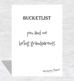 Bucketlist card - being grandparents