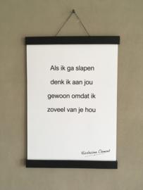 Posterhanger van leer met magneten