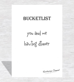 Bucketlist card - having dinner