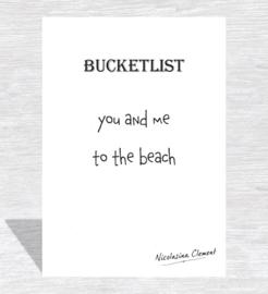 Bucketlist card - to the beach