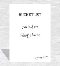 Bucketlist card - riding a horse