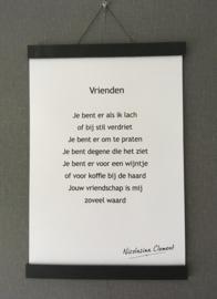 Posterhanger van leer