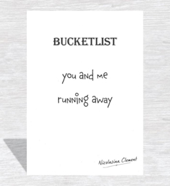 Bucketlist card - running away