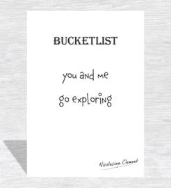 Bucketlist card - go exploring