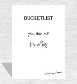 Bucketlist card - traveling